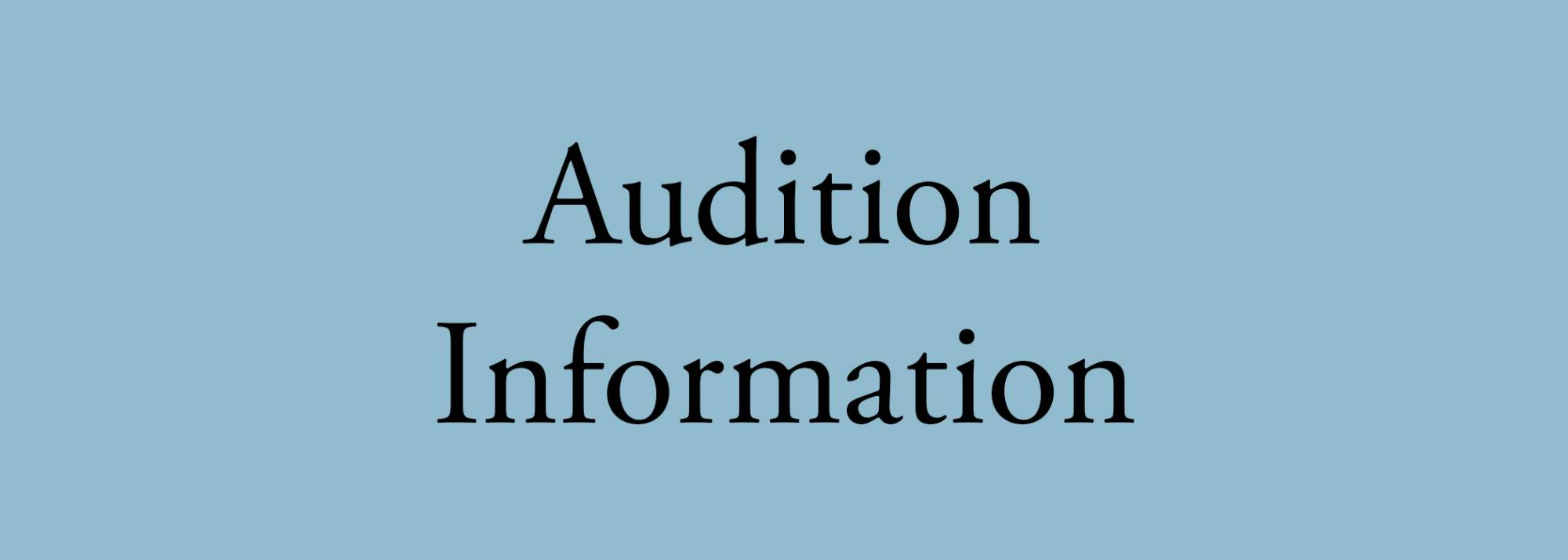 dance audition info button
